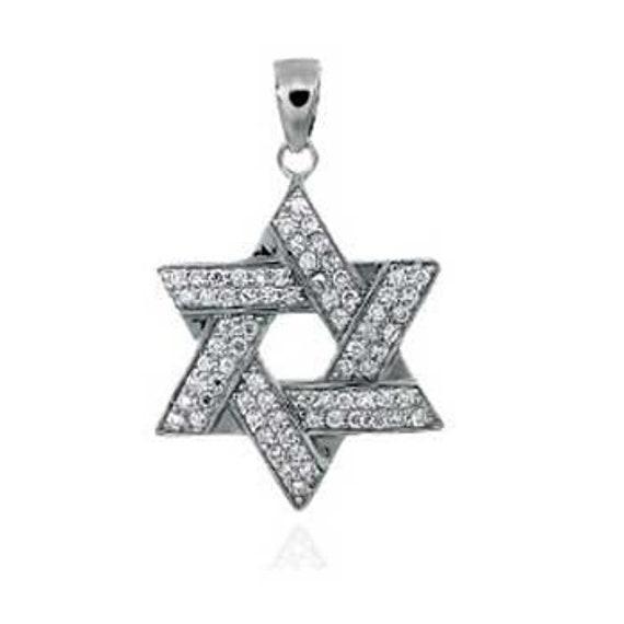 Star of David Pendant .925 Sterling Silver Charm