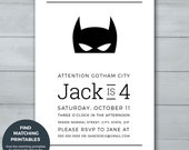 Batman Birthday Invitatio...