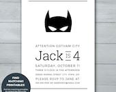 Batman Birthday Invitatio...
