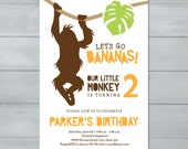 Monkey Birthday Party Inv...