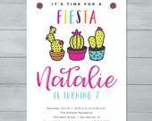 Fiesta Birthday Invitatio...