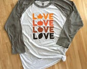 Fall Love Adult Raglan Sh...