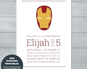 Iron Man Birthday Invitat...