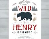 Wilderness Birthday Invit...