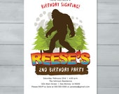 Bigfoot Birthday Invitati...