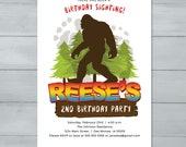 Bigfoot Birthday Invitati...