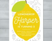 Lemon Birthday Invitation...