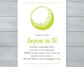 Golf Birthday Party Invit...