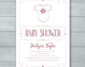 Girl Baby Shower Invitati...