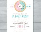 Donut Gender Reveal Invit...