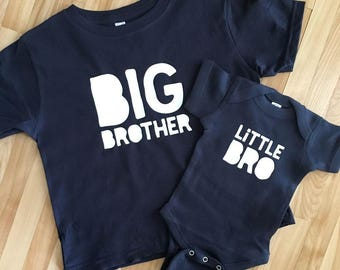 0e6438c6 Brother Shirts | Big Brother Shirt or Bodysuit | Little Bro Shirt or  Bodysuit | Big Brother, Little Brother Sibling Shirt