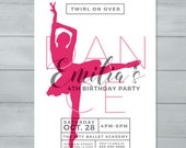 Ballerina Birthday Invita...