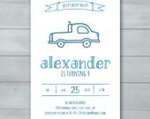 Truck Birthday Party Invi...