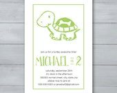 Turtle Birthday Party Inv...