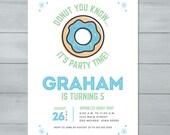 Donut Birthday Party Invi...