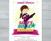 Girl Ninja Invitation  | ...