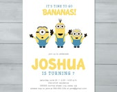 Minion Birthday Party Inv...