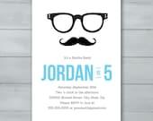 Mustache Hipster Birthday...