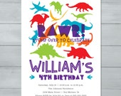 Dinosaur Birthday Invitat...