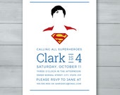 Superman Birthday Invitat...