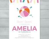 Beach Ball Birthday Party...