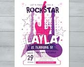 Rockstar Birthday Invitat...