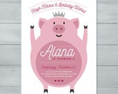 Pig Birthday Invitation  ...