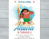Moana Birthday Invitation...