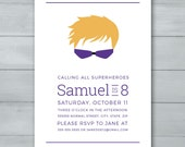Hawkeye Birthday Invitati...