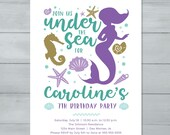 Mermaid Birthday Invitati...