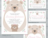 Mama Bear Baby Shower Inv...