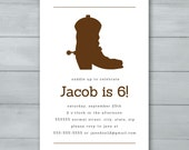 Cowboy Boot Birthday Part...