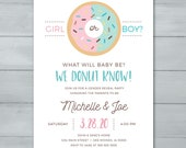 Donut Gender Reveal Invit...