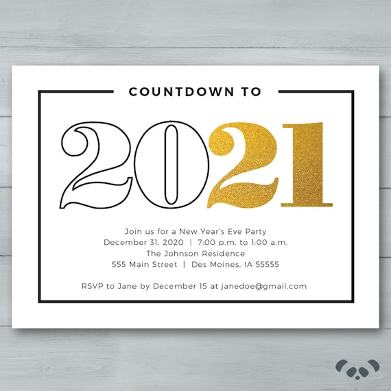 New Year S Eve Party Invitation New Year S Etsy