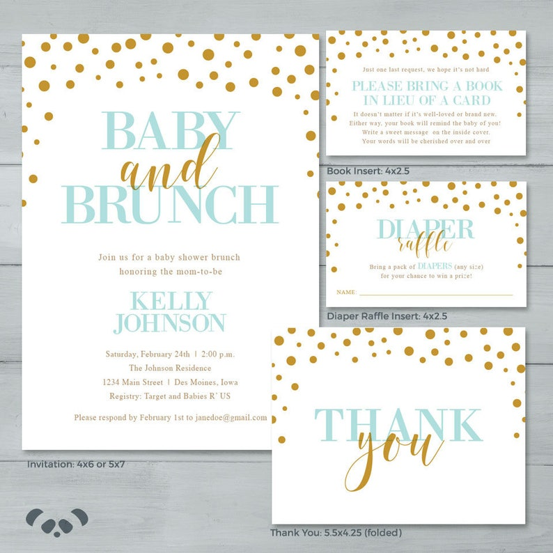 Baby Shower Brunch Invitation Suite Baby Sprinkle Shower Etsy