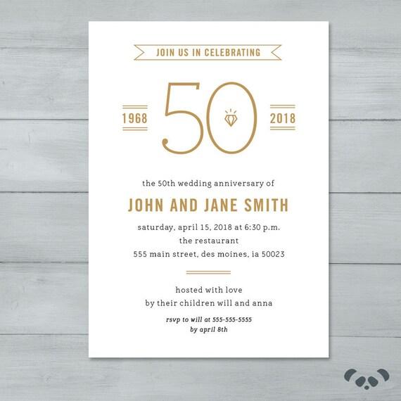 anniversary party invitation wedding anniversary party etsy