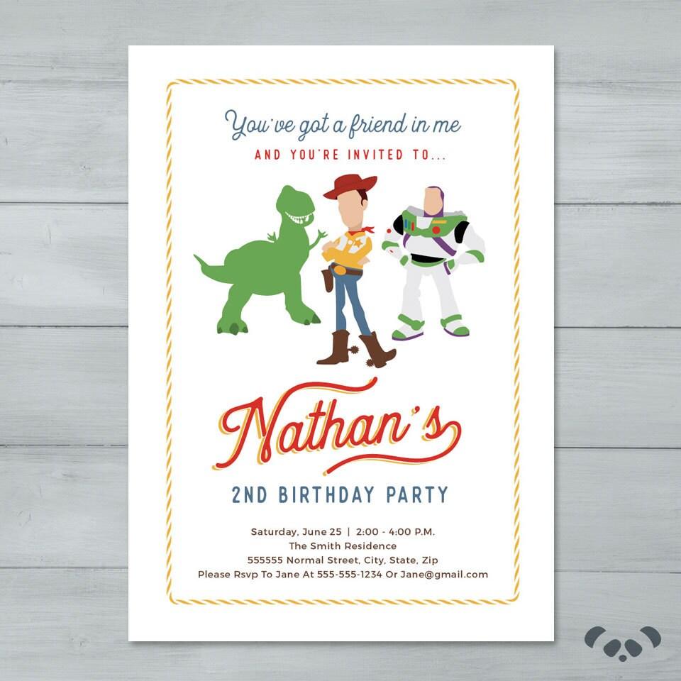 Toy Story Birthday Party Invitation Toy Story Invitation | Etsy