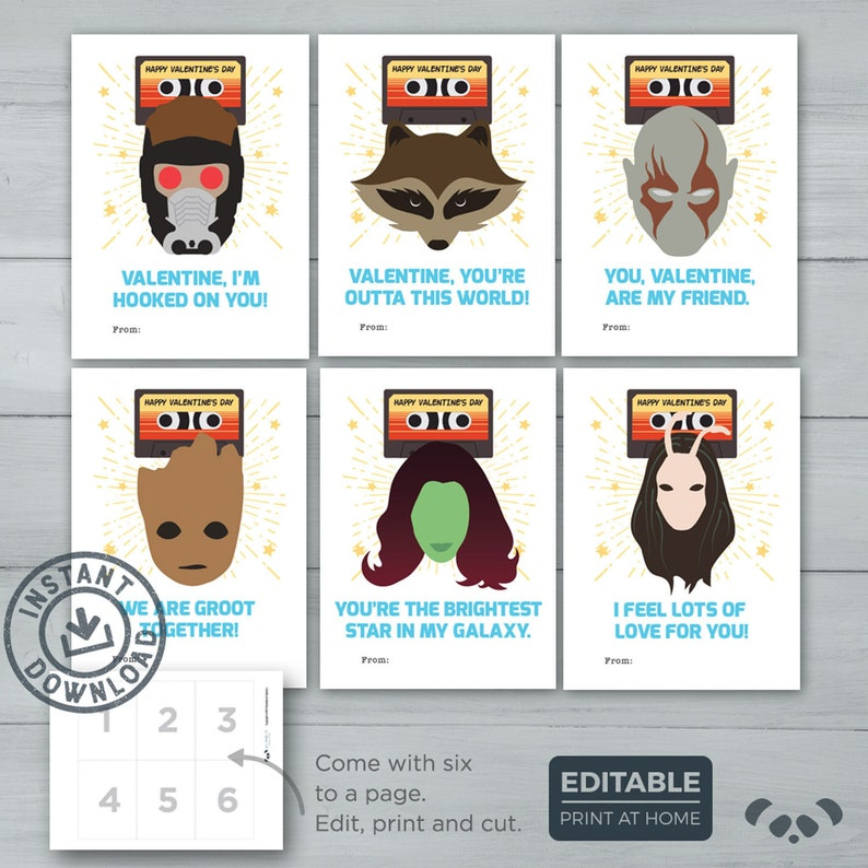 Kids Valentine Cards    Guardians of the Galaxy Valentines   image 0