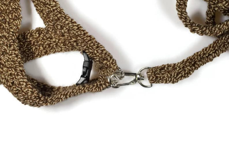 Crochet cat harness with leash Small pet harness Brown stylish handmade set of harness and leash Love my cat harness Leash for sphynx cat