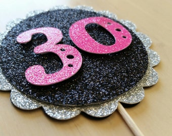 Personalized Cupcake Toppers-Set of 12