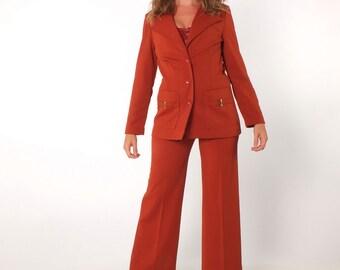 9aab1d1e5f6 1970s Vintage Cinnamon Jack Winter Pant Suit