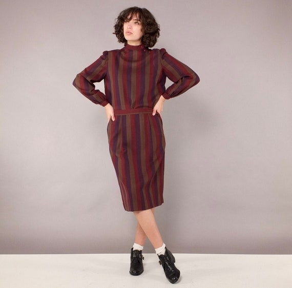 Christian Dior Separates Vintage Striped Two Piece