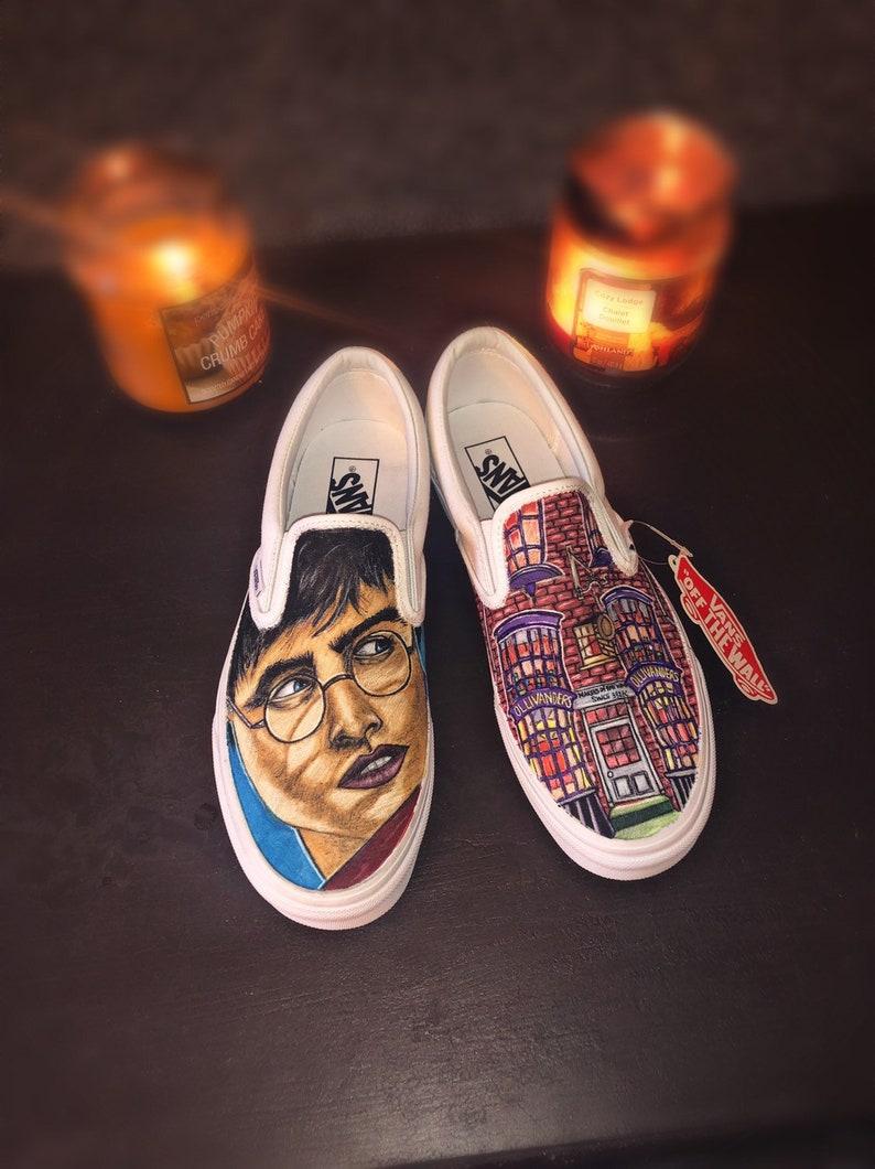 47ddaa3ad7e8d2 Custom Harry Potter Vans shoes