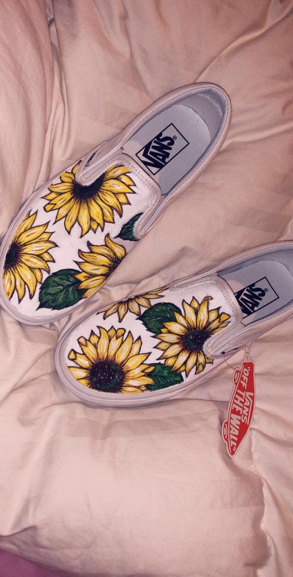 Sunflower Custom Vans   Etsy
