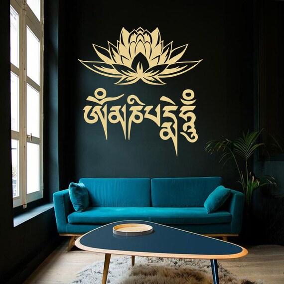 Wand Aufkleber Lotus Blume Meditation Buddha Yoga Mantra Om | Etsy