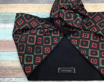 Nodo di filo donna Rosso a Pois Cerchietto Wrap Sciarpa Vintage Stile Retrò Fresco