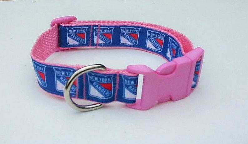 NY RANGERS Dog Collar New York Rangers Collar PINK Rangers  cd3b0375e