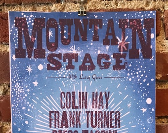 2017 Mountain Stage Letterpress Posters - January to July
