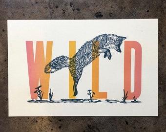 WILD Letterpress Print