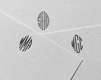Custom Monogrammed Letterpress Stationery